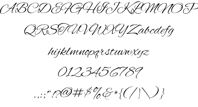 An image of Old Enlgish style calligraphy