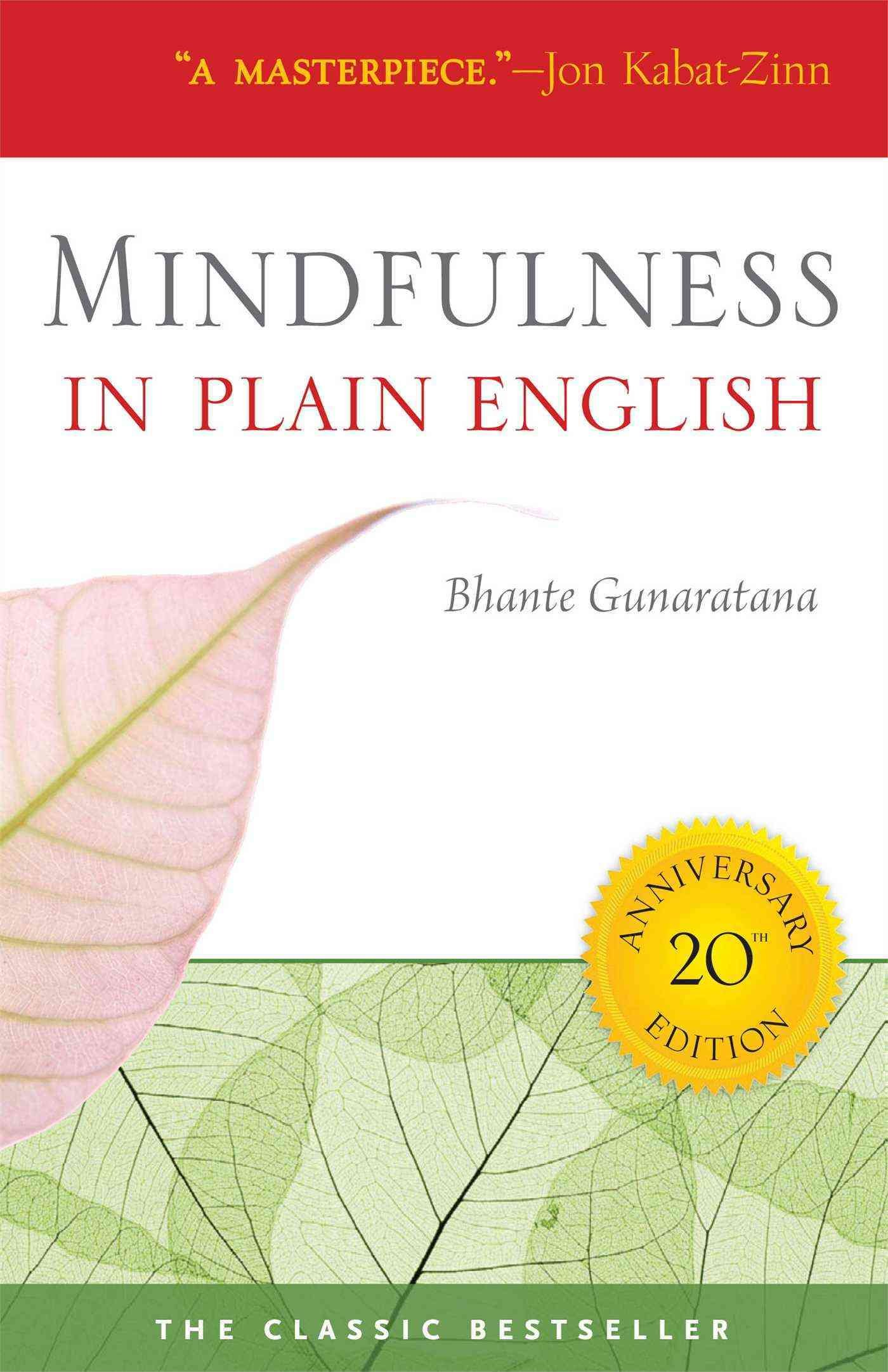 "A book cover thats says, ""Mindfulness in plain English"""