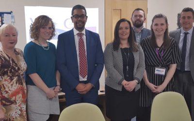 Health Secretary visits Valleys Steps
